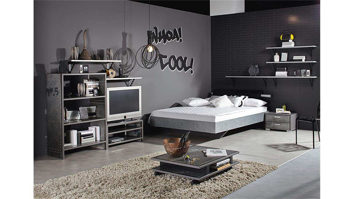 wandboard workbase wandregal in industrie print dekor. Black Bedroom Furniture Sets. Home Design Ideas