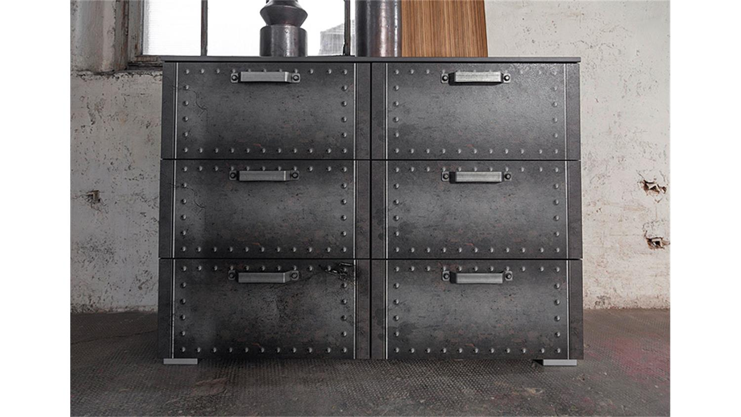 kommode ii workbase industrieoptik graphit. Black Bedroom Furniture Sets. Home Design Ideas
