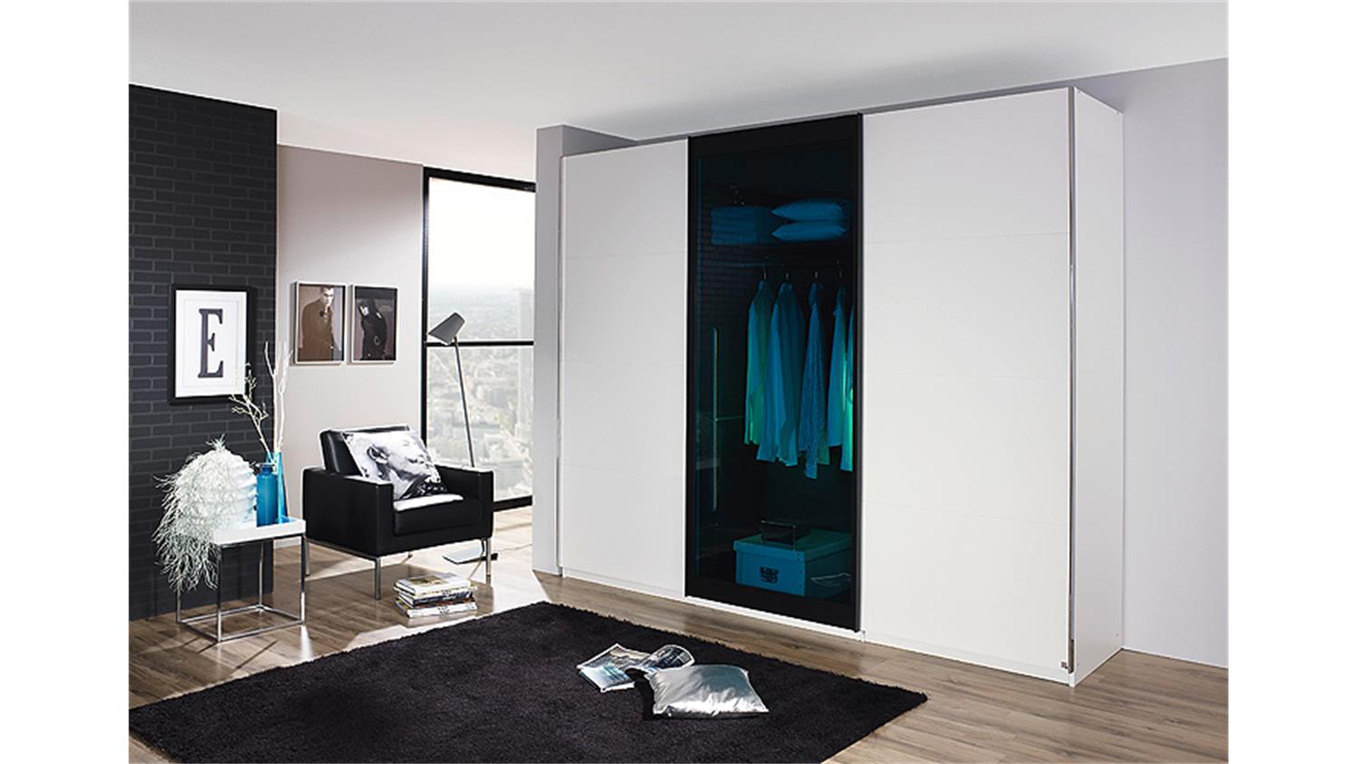 schwebet renschrank lahti wei petrol glas 226 cm. Black Bedroom Furniture Sets. Home Design Ideas