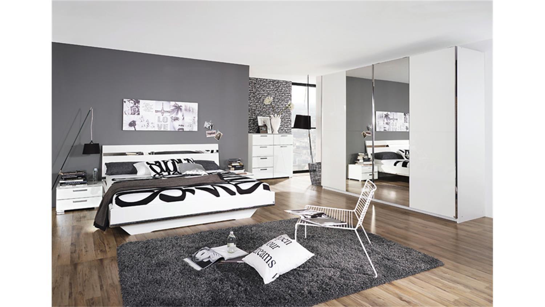 bett denia wei hochglanz chrom spiegel 140x200. Black Bedroom Furniture Sets. Home Design Ideas