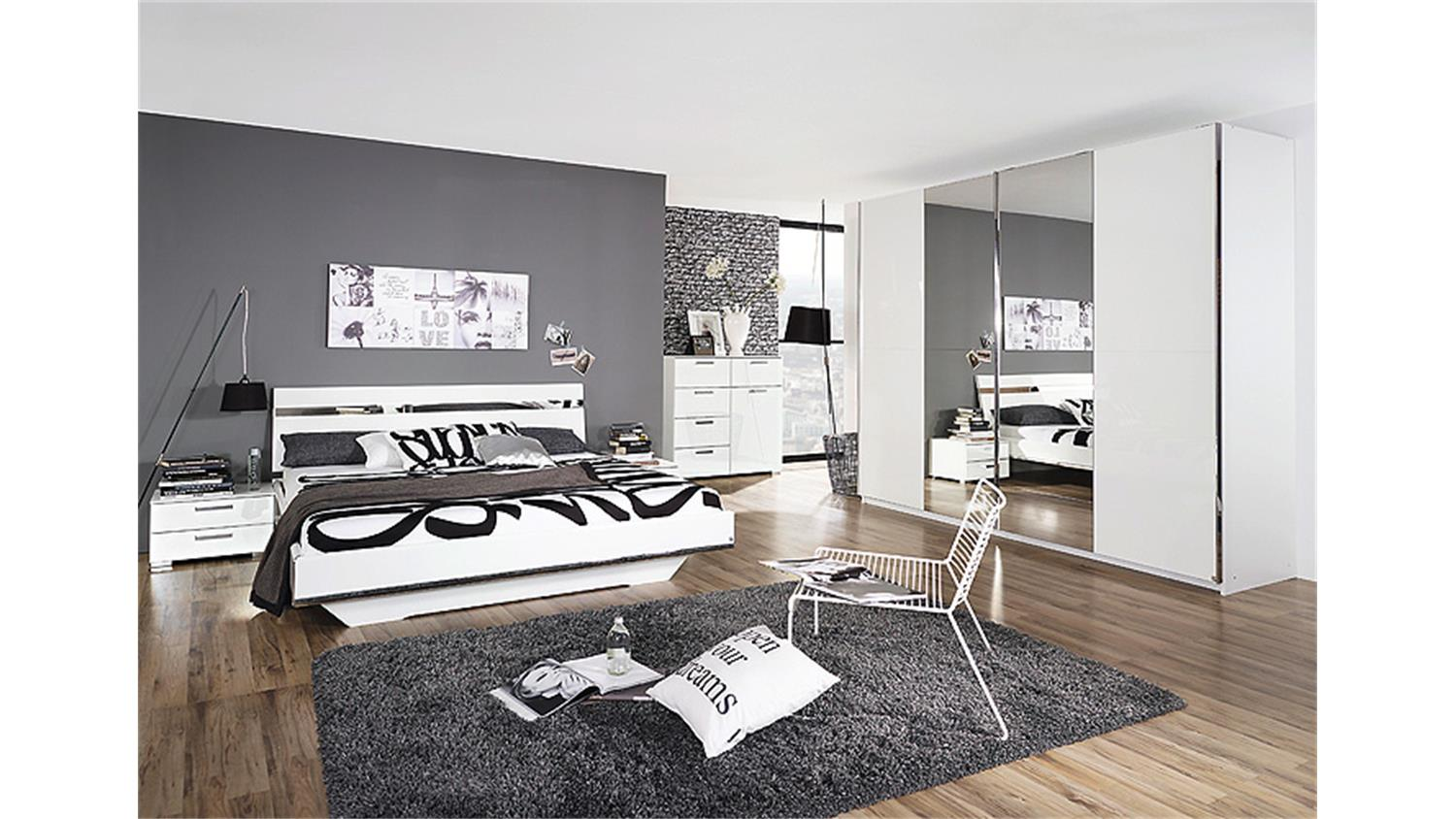 nachttisch denia nachtkommode in wei hochglanz chrom. Black Bedroom Furniture Sets. Home Design Ideas