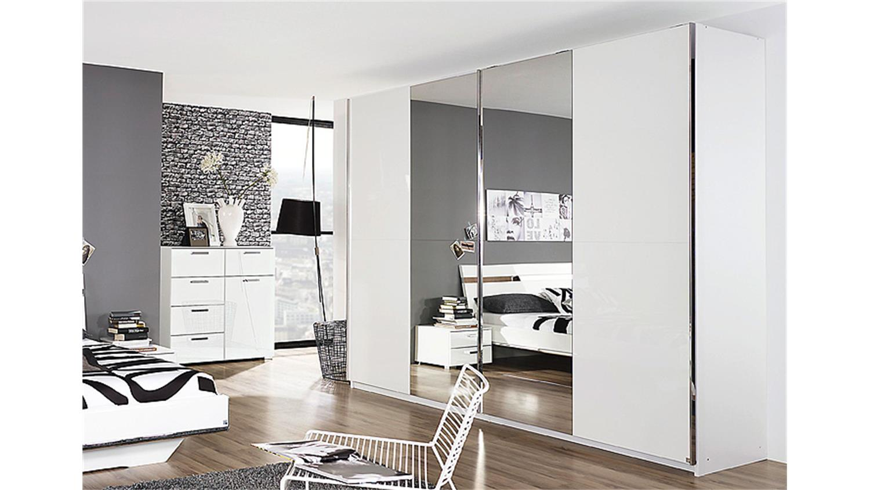 Kleiderschrank weiß hochglanz mit spiegel  Schwebetürenschrank Spiegel | gispatcher.com