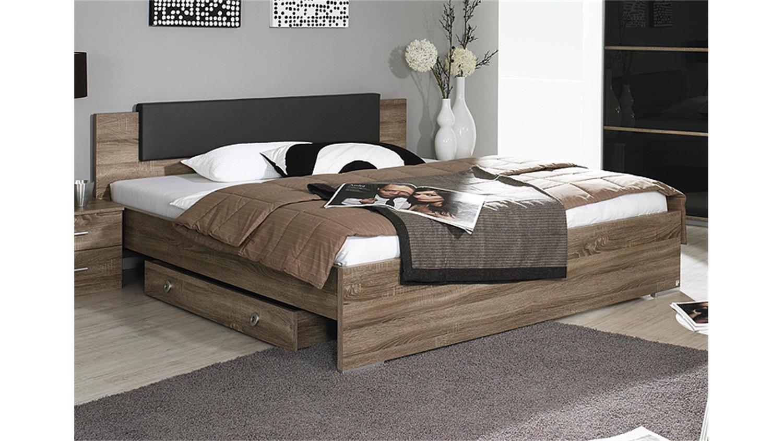 cholet schlafzimmerbett in havanna eiche 180x200 cm