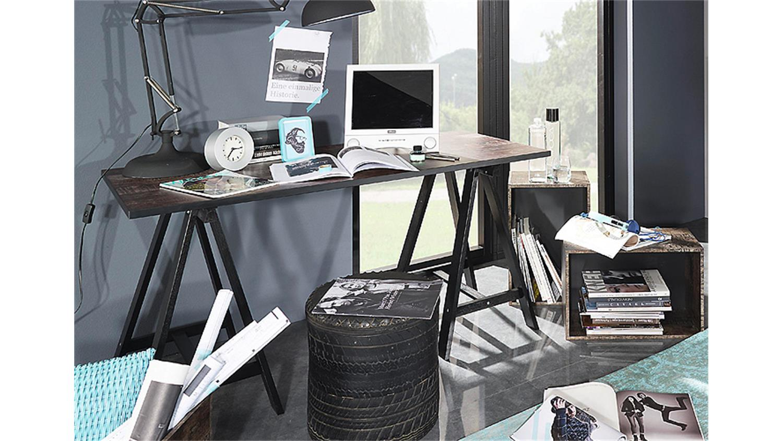 schreibtisch sumatravintage braun schwarz. Black Bedroom Furniture Sets. Home Design Ideas
