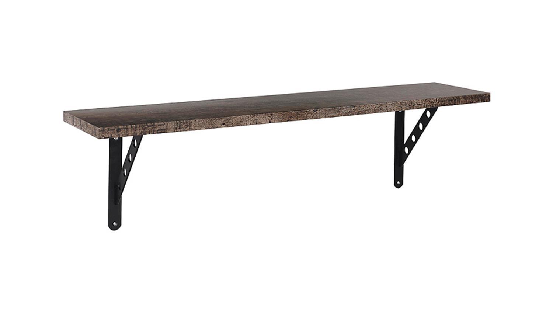 wandboard sumatra wohnwand in vintage braun und schwarz. Black Bedroom Furniture Sets. Home Design Ideas