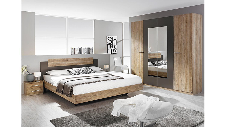 schlafzimmer set borba eiche sanremo hell und lavagrau. Black Bedroom Furniture Sets. Home Design Ideas