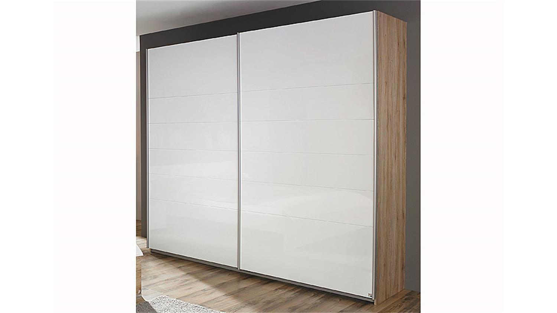 schwebet renschrank lorca eiche sanremo wei hochglanz. Black Bedroom Furniture Sets. Home Design Ideas