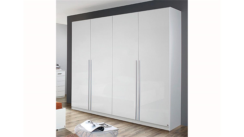 kleiderschrank lorca wei hochglanz b 226 cm. Black Bedroom Furniture Sets. Home Design Ideas
