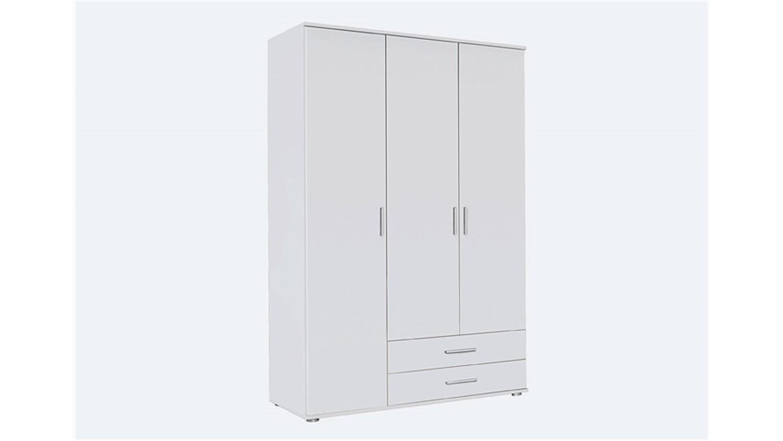 kleiderschrank rasant dreht renschrank schrank 3 t rig wei 127 cm. Black Bedroom Furniture Sets. Home Design Ideas