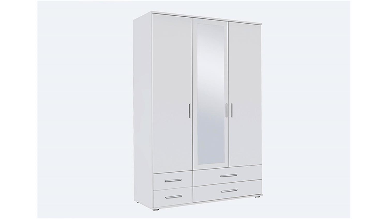 Kleiderschrank weiß mit spiegel  RASANT Weiß mit Spiegel B 127 cm