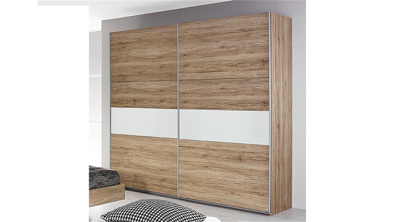 schlafzimmer almada eiche sanremo hell wei 4 teilig. Black Bedroom Furniture Sets. Home Design Ideas