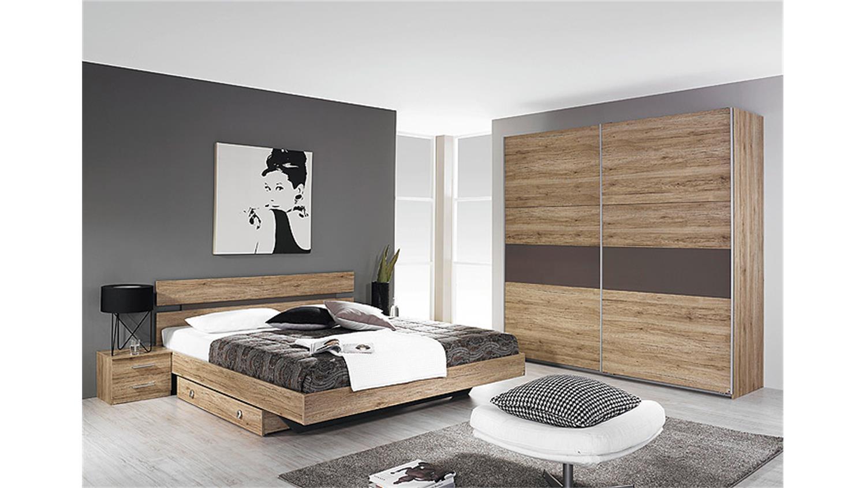 schlafzimmer almada eiche sanremo hell lavagrau 4 teilig. Black Bedroom Furniture Sets. Home Design Ideas