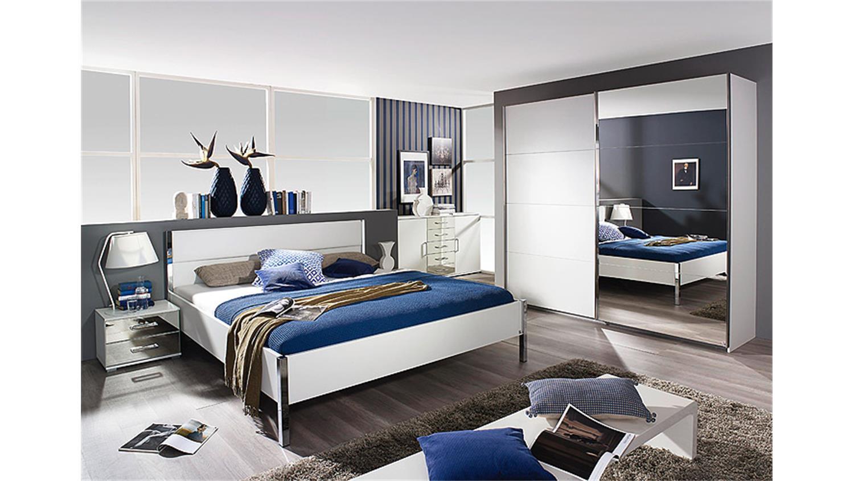 schlafzimmer set moita in wei und spiegel 4 teilig. Black Bedroom Furniture Sets. Home Design Ideas
