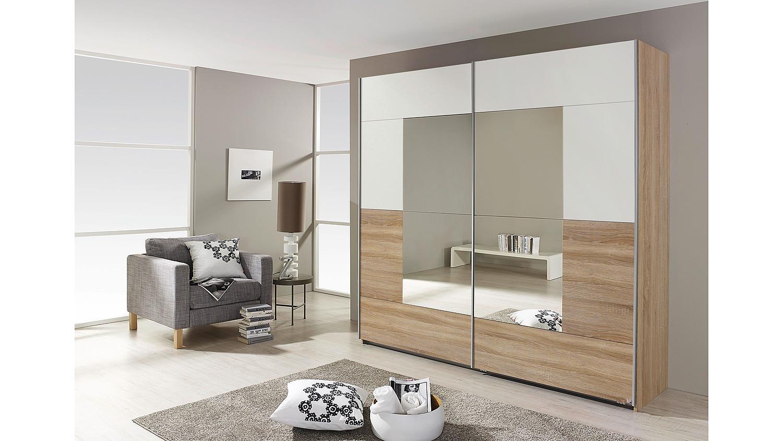 schwebet renschrank crato schrank in eiche sonoma und wei 218 cm. Black Bedroom Furniture Sets. Home Design Ideas