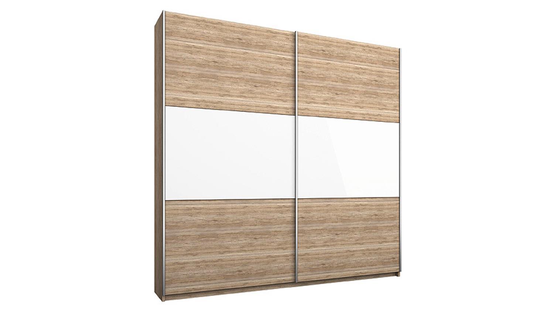 schwebet renschrank loriga eiche sanremo glas wei b175 cm. Black Bedroom Furniture Sets. Home Design Ideas