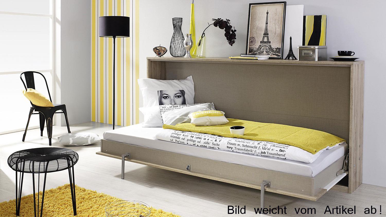 schrankbett albero 90x200cm eiche wei klappbett. Black Bedroom Furniture Sets. Home Design Ideas