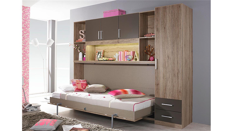 klappbett set albero eiche sanremo hell lavagrau. Black Bedroom Furniture Sets. Home Design Ideas