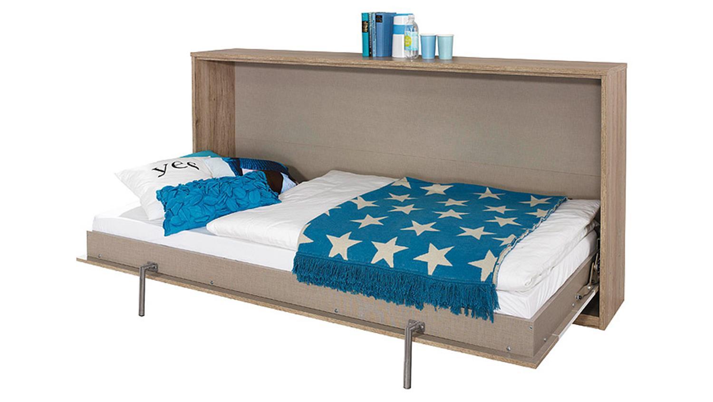 klappbett alberoeiche sanremo hell und alpinwei 90x200 cm. Black Bedroom Furniture Sets. Home Design Ideas