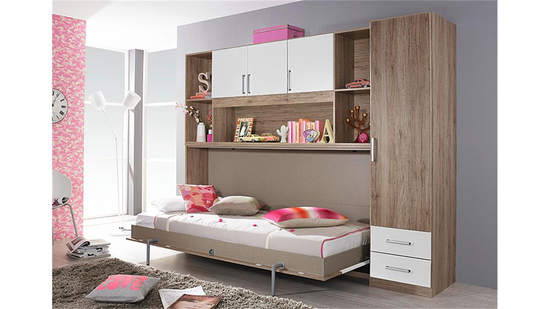 klappbett set albero eiche sanremo hell und wei. Black Bedroom Furniture Sets. Home Design Ideas