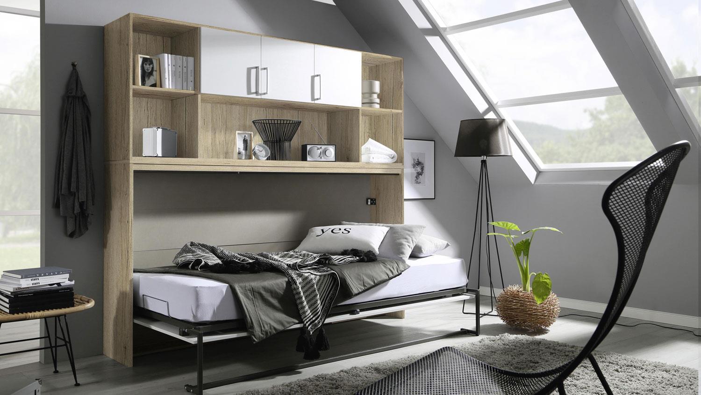 Schrankbett Albero Mit Regal Kleiderschrank Bettüberbau