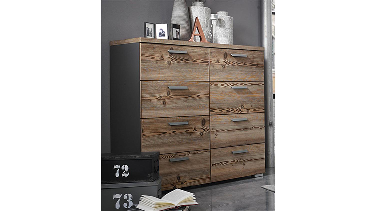 roller kommode montreal pinie wei wenge 146 cm breit smash. Black Bedroom Furniture Sets. Home Design Ideas