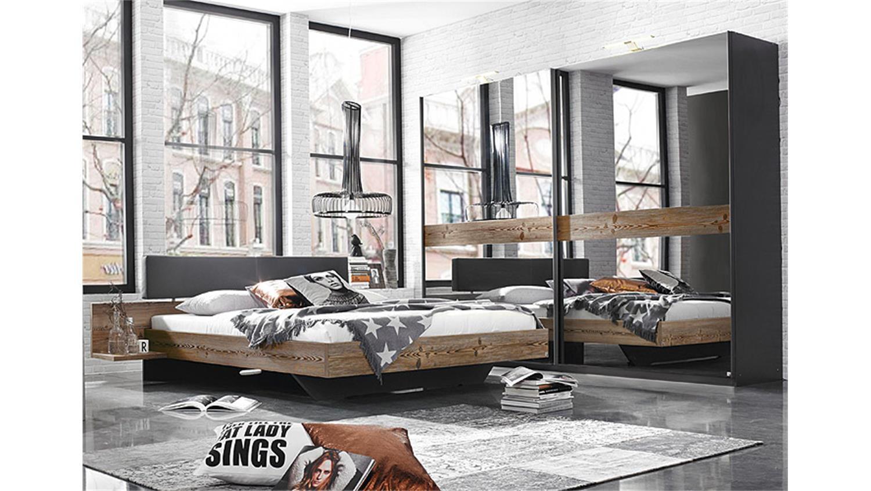 set montreal graphit spiegel lärche natur, Schlafzimmer entwurf