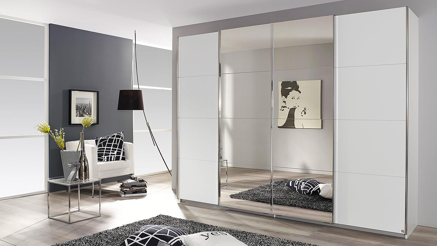 schwebet renschrank syncrono in wei mit spiegel 271 cm. Black Bedroom Furniture Sets. Home Design Ideas