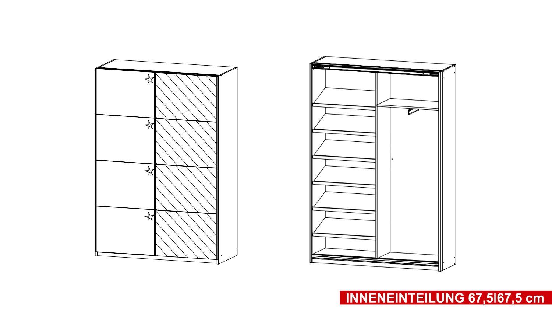 garderobenschrank minosa schrank in wei hochglanz 136cm. Black Bedroom Furniture Sets. Home Design Ideas