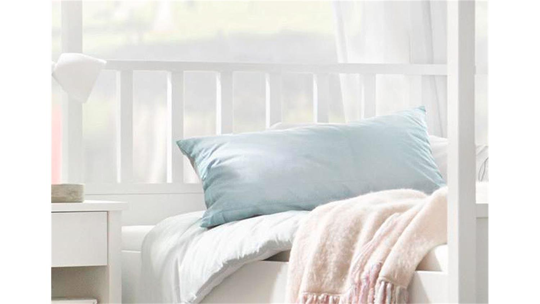 himmelbett marit bett wei kopfteil sprossen 180x200 cm. Black Bedroom Furniture Sets. Home Design Ideas