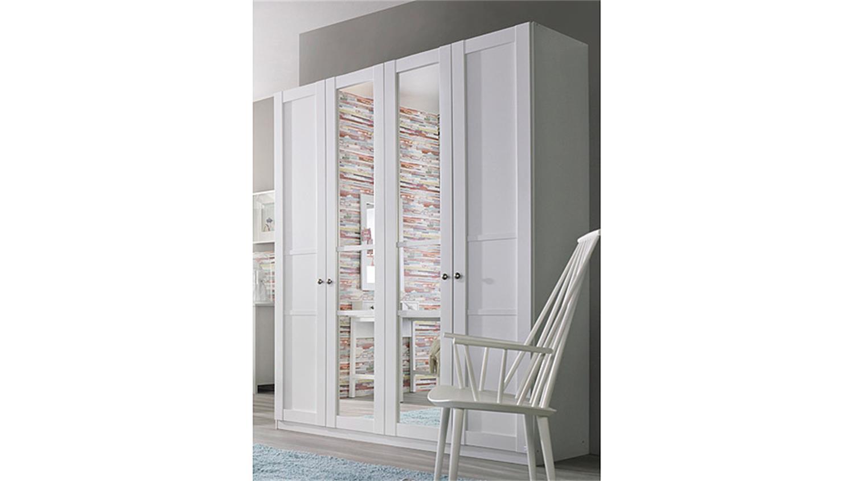 Kleiderschrank weiß mit spiegel  MARIT Weiß mit Spiegel Breite 181 cm