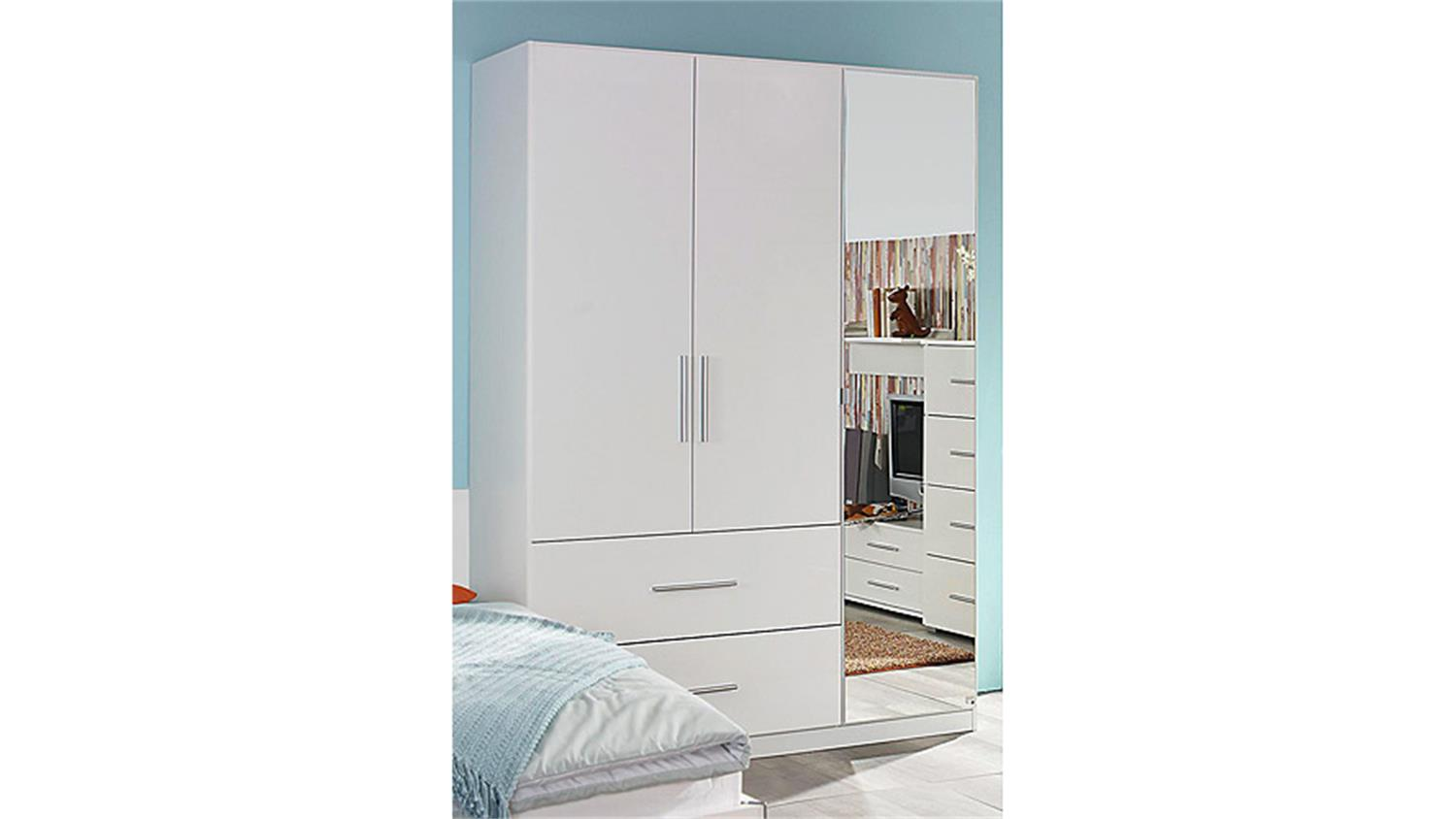 kleiderschrank manja wei hochglanz 3 t ren b 136 cm. Black Bedroom Furniture Sets. Home Design Ideas