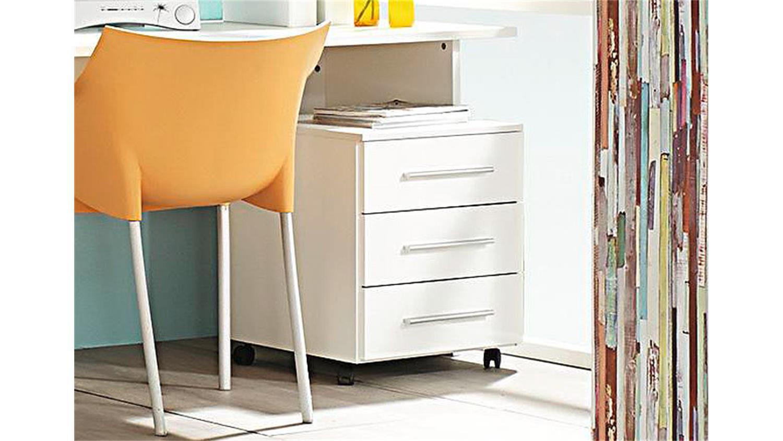 rollcontainer manja wei hochglanz 3 schubk sten. Black Bedroom Furniture Sets. Home Design Ideas