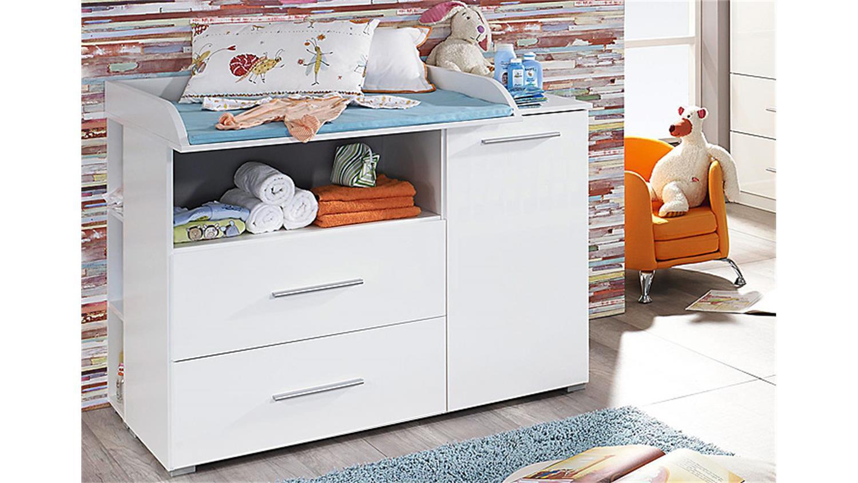 Babyzimmer weiß hochglanz  Set MANJA 4-teilig Weiß Hochglanz