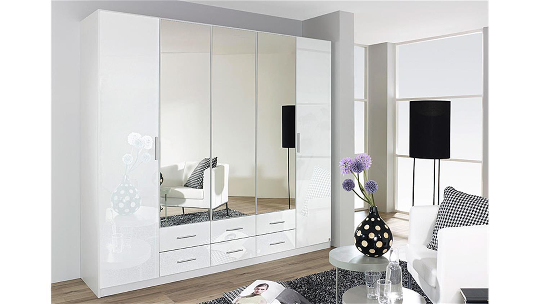 HILDEN Weiß Hochglanz 5 Türen B 226 cm