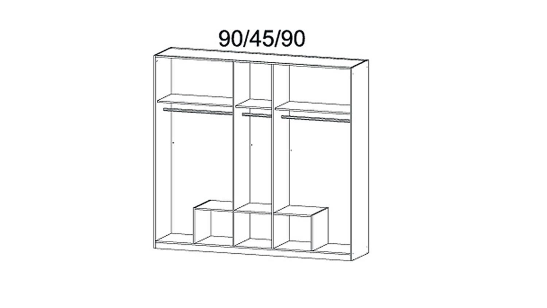 kleiderschrank hilden wei hochglanz 5 t ren b 226 cm. Black Bedroom Furniture Sets. Home Design Ideas