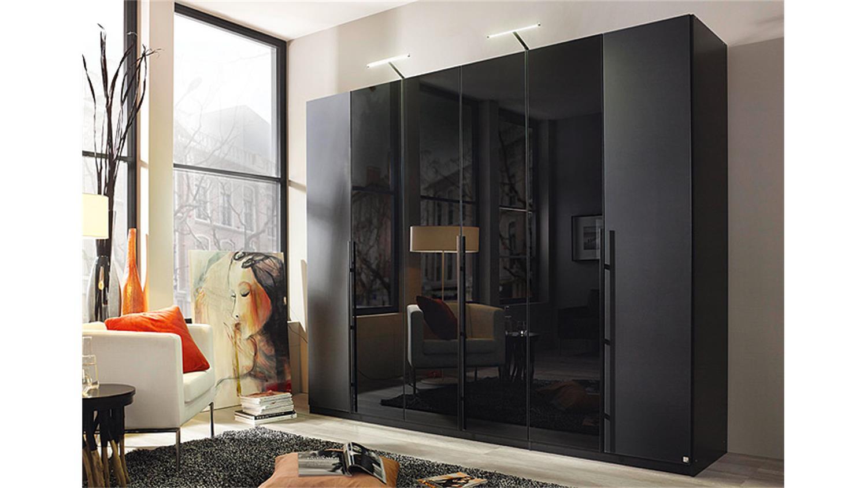 Cool Kleiderschrank 270 Cm Breit Ideen Von Bayamo Glas Schwarz Matt Breite
