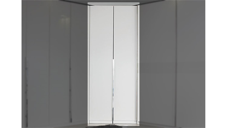 eck kleiderschrank bayamo glas matt wei 2 t ren. Black Bedroom Furniture Sets. Home Design Ideas
