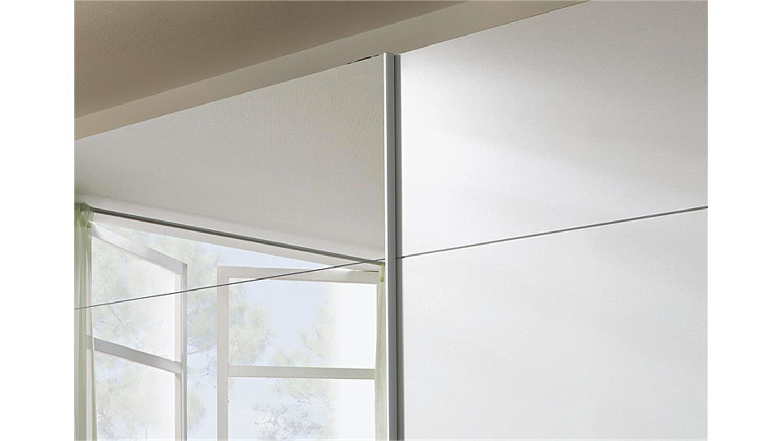 Schwebetürenschrank Quadra quadra weiß mit spiegel 315 cm