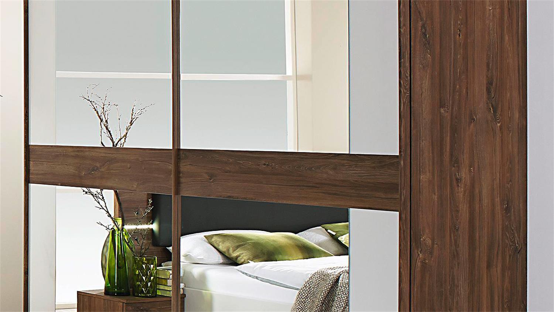 Schlafzimmer 1 Leimen Bett Schrank Weiss Eiche Stirling Led