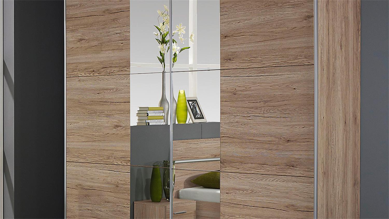 schlafzimmer fellbach bett schrank nako san remo eiche hell. Black Bedroom Furniture Sets. Home Design Ideas