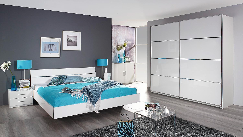 Bettanlage starnberg bett nako in wei hochglanz 180x200 - Schlafzimmer hochglanz ...