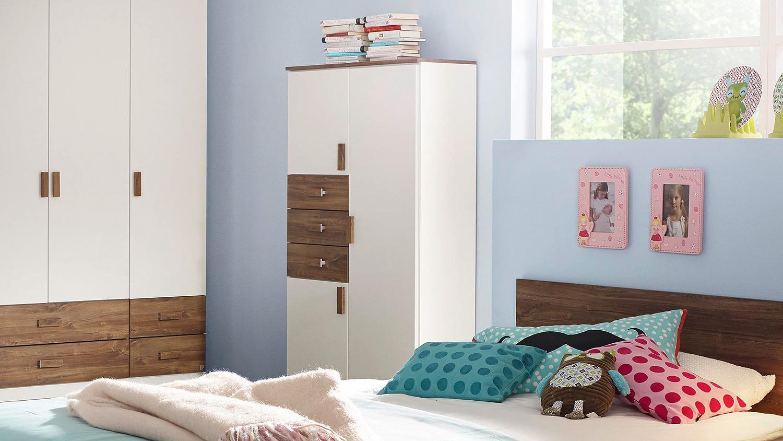 schrank susann highboard in wei eiche stirling 92 cm. Black Bedroom Furniture Sets. Home Design Ideas