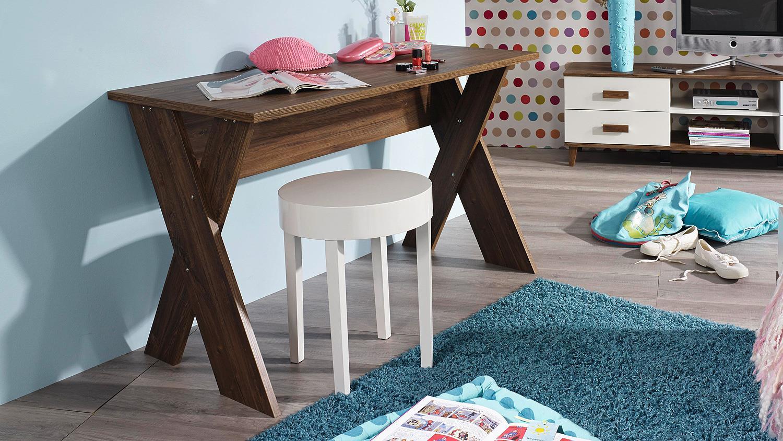 Schreibtisch susann pc tisch computertisch in eiche stirling for Schreibtisch in eiche