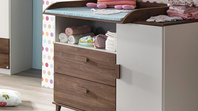 babyzimmer susann kinderzimmer in wei eiche stirling. Black Bedroom Furniture Sets. Home Design Ideas