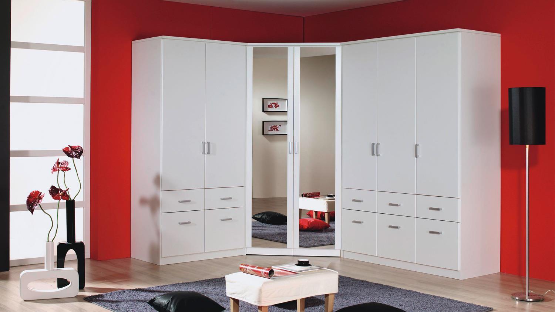 eckschrank bremen kleiderschrank in wei mit spiegel 117. Black Bedroom Furniture Sets. Home Design Ideas