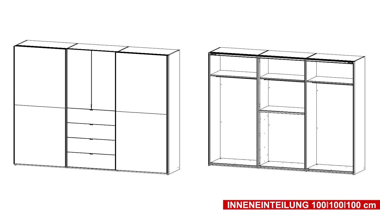 Kleiderschrank Weiß Schwarz Mit Spiegel ~ Kleiderschrank BAYLANDO 6 in weiß und schwarz Hochglanz mit Spiegel