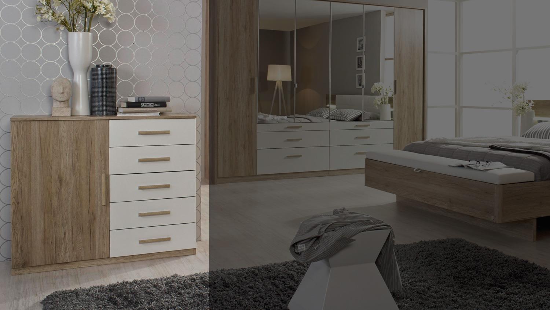 kommode mosbach sideboard in sanremo eiche hell und wei. Black Bedroom Furniture Sets. Home Design Ideas