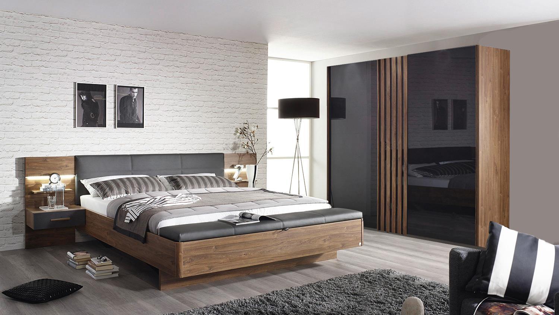 schlafzimmer set 2 mosbach eiche stirling grau basalt led. Black Bedroom Furniture Sets. Home Design Ideas