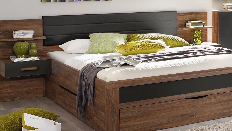 Schlafzimmer Set Bernau In Eiche Stirling Grau Und Basalt