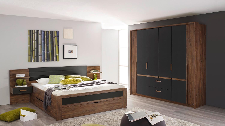 Schlafzimmer Set 2 Bernau Eiche Stirling Grau Und Basalt